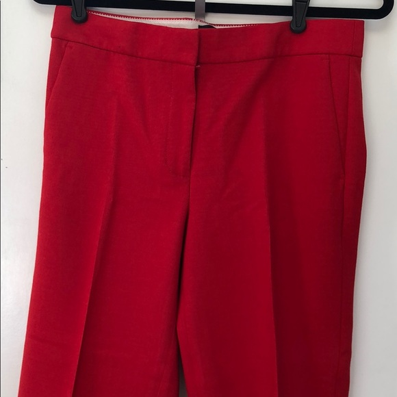 J. Crew Pants - Bright red cropped trousers